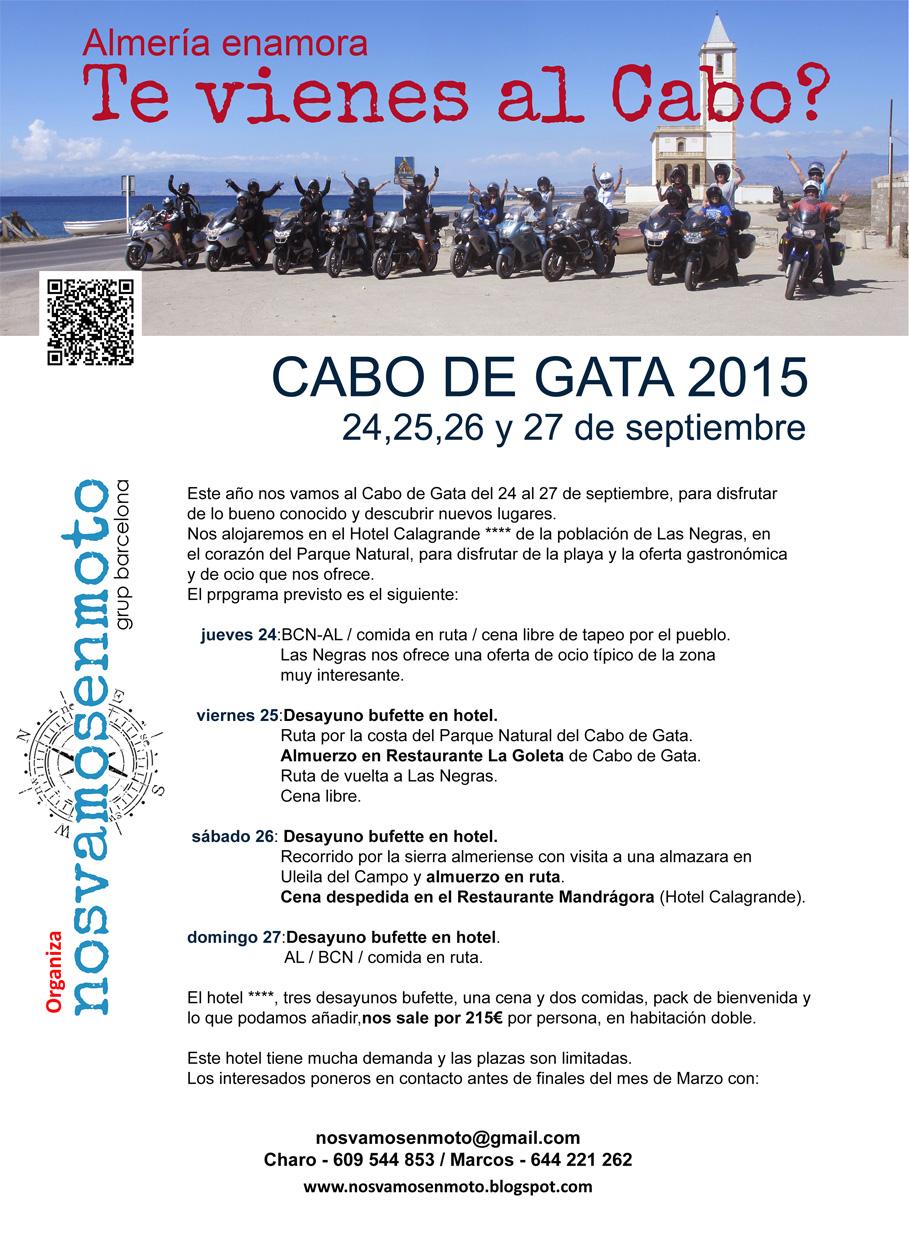 programa Cabo de Gata nosvamosenmoto